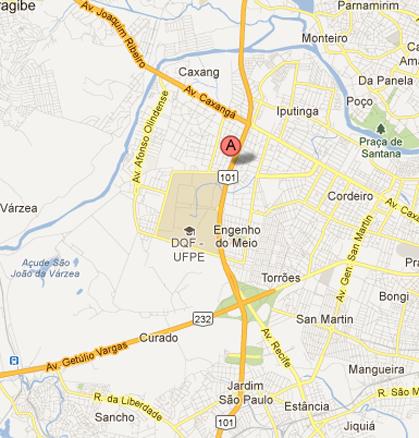 Mapa da região onde será a 64ª Reunião Anual da SBPC